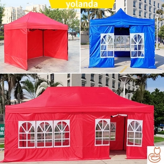 ☆YOLA☆ 3 Styles Tent Surface Replacement Outdoor Garden Shade Top Rainproof Canopy Cover Portable Party Waterproof Oxford Cloth High Quality Tents Gazebo Accessories/Multicolor