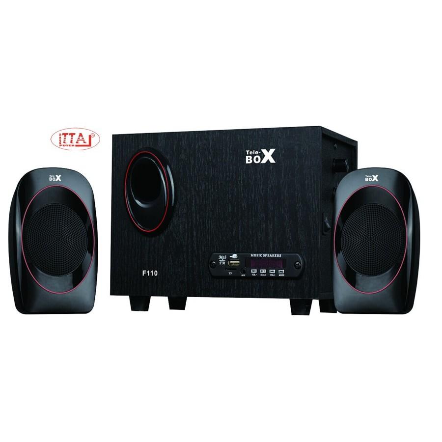 Loa TELEBOX F110 chuẩn 2.1 tích hợp Bluetooth – USB -Thẻ nhớ TF Giá chỉ 350.000₫
