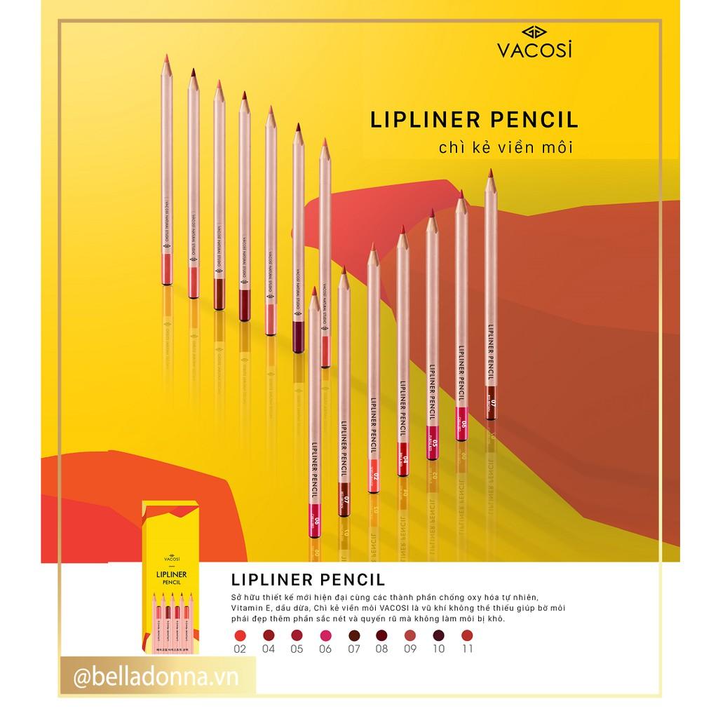 [Mẫu mới 2019] Chì Kẻ Viền Môi Vacosi Lipliner Pencil