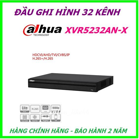 Đầu ghi hình 32 kênh Dahua XVR5232AN-X, hỗ trợ camera HDCVI/TVI/AHD/Analog/IP