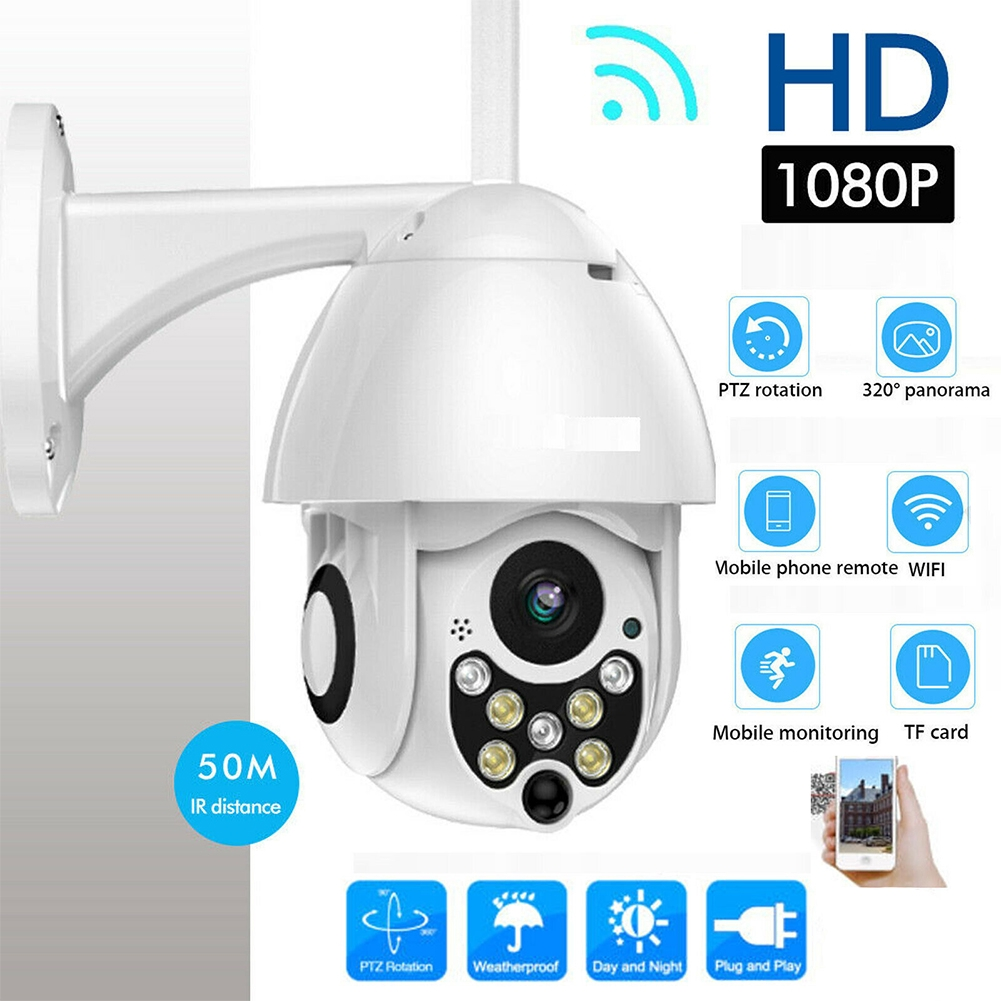 Digital Zoom Night Vision Security Surveilance HD Multifunction Dome Outdoor WIFI Camera
