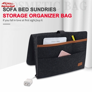 HW Large Capacity Sofa Bedside Clutter Storage Bag Waterproof Storage Hanging Bags Household Organizer Bags