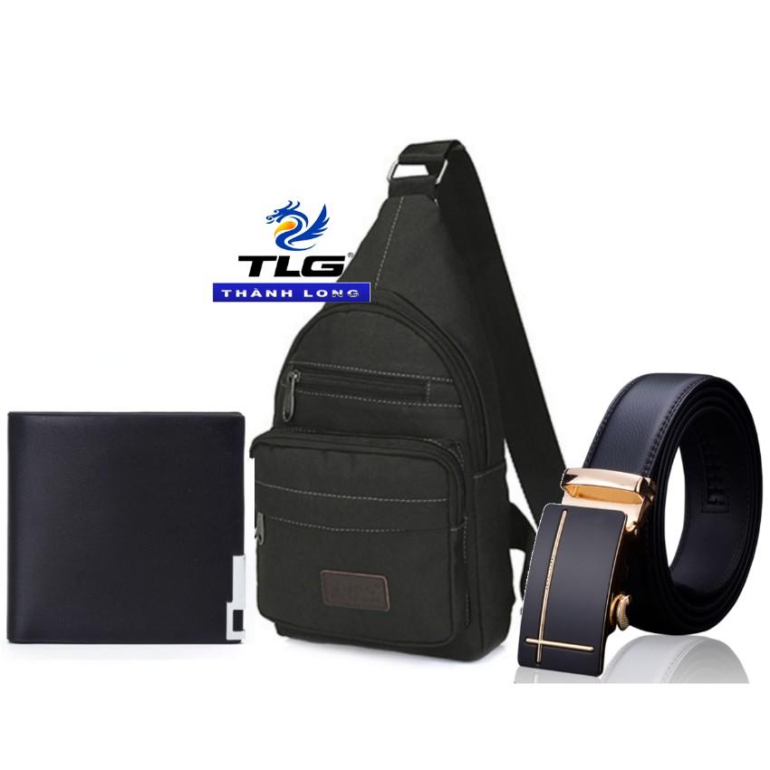 Bộ 3 túi nam đeo chéo TL 8071+ ví nam da 439 +thắt lưng nam da cao cấp TL 867 Đồ Da Thành Long TLG