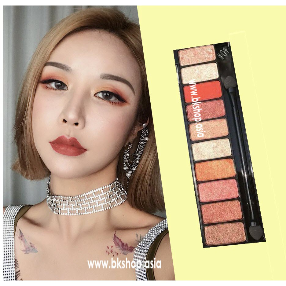 Phấn Mắt Dạng Kem][ SIVANNA COLORS Luxury Velvet Eyeshadow 10 ô
