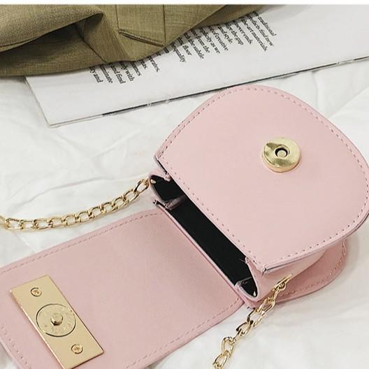 Túi đeo chéo mini nữ thời trang dễ thương, dây xích da mềm giá rẻ GL26