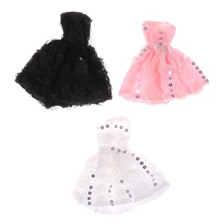 NBY❤❤1Pc Beautiful Handmade Dresses Clothes For Barbie Doll Doll