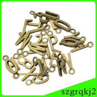 26Pcs/set Metal Alphabet Letter European Charm Bracelet Dangle Bead Charms