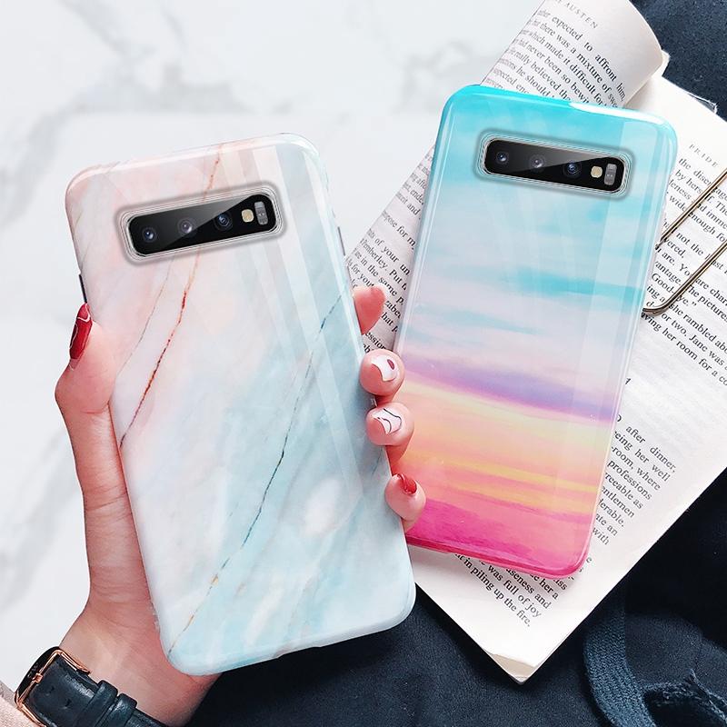 Ốp điện thoại họa tiết vân đá cẩm thạch xinh xắn cho samsung Galaxy S10