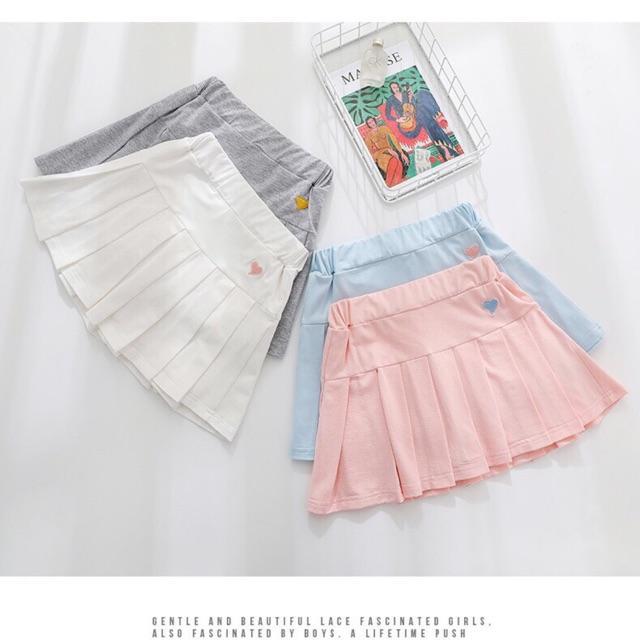 Quần váy cotton bé gái