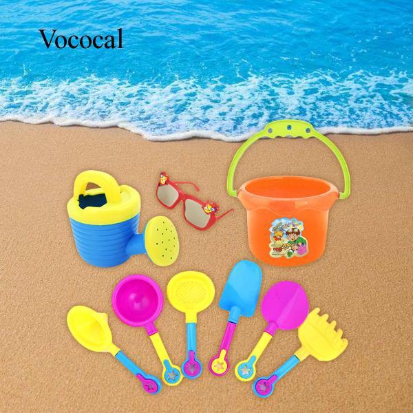 9x Kids Beach Sand Game Toys Shovels Hourglass Bucket Kids Pretend Playset Role