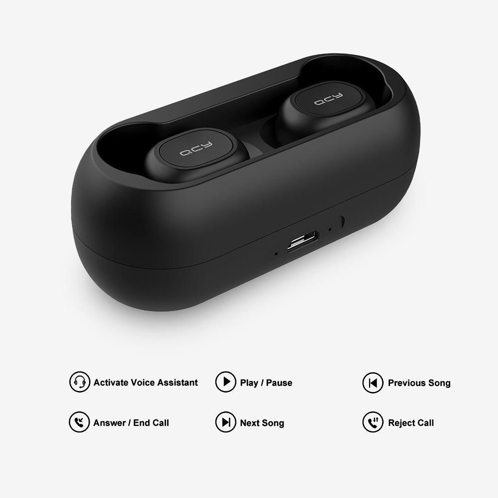 Tai nghe Bluetooth QCY t1c TWS Mini kèm Mic tiện lợi
