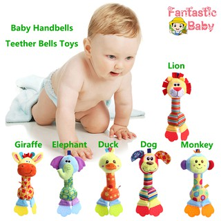 Newborn Baby Infant Soft Animal Rattles Handbells Teether Developmental Bed Bells Toys Baby Bed Toy