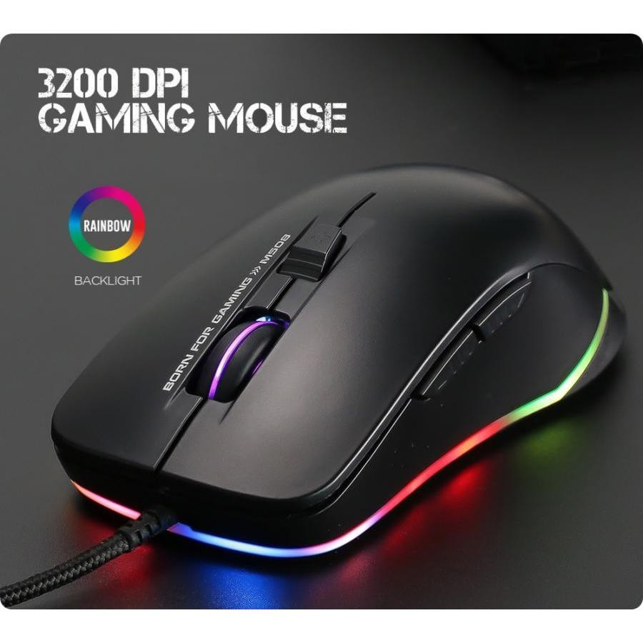 Chuột chuyên game 6D cao cấp Marvo M508 Led RGB