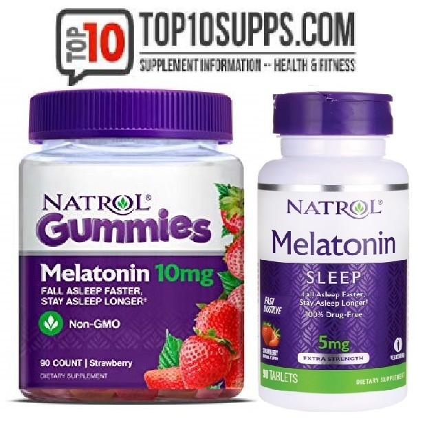 Kẹo ngậm ngủ ngon MELATONIN NATROL 5mg &10mg gummies Fall asleep faster (Date 2020) 🍬