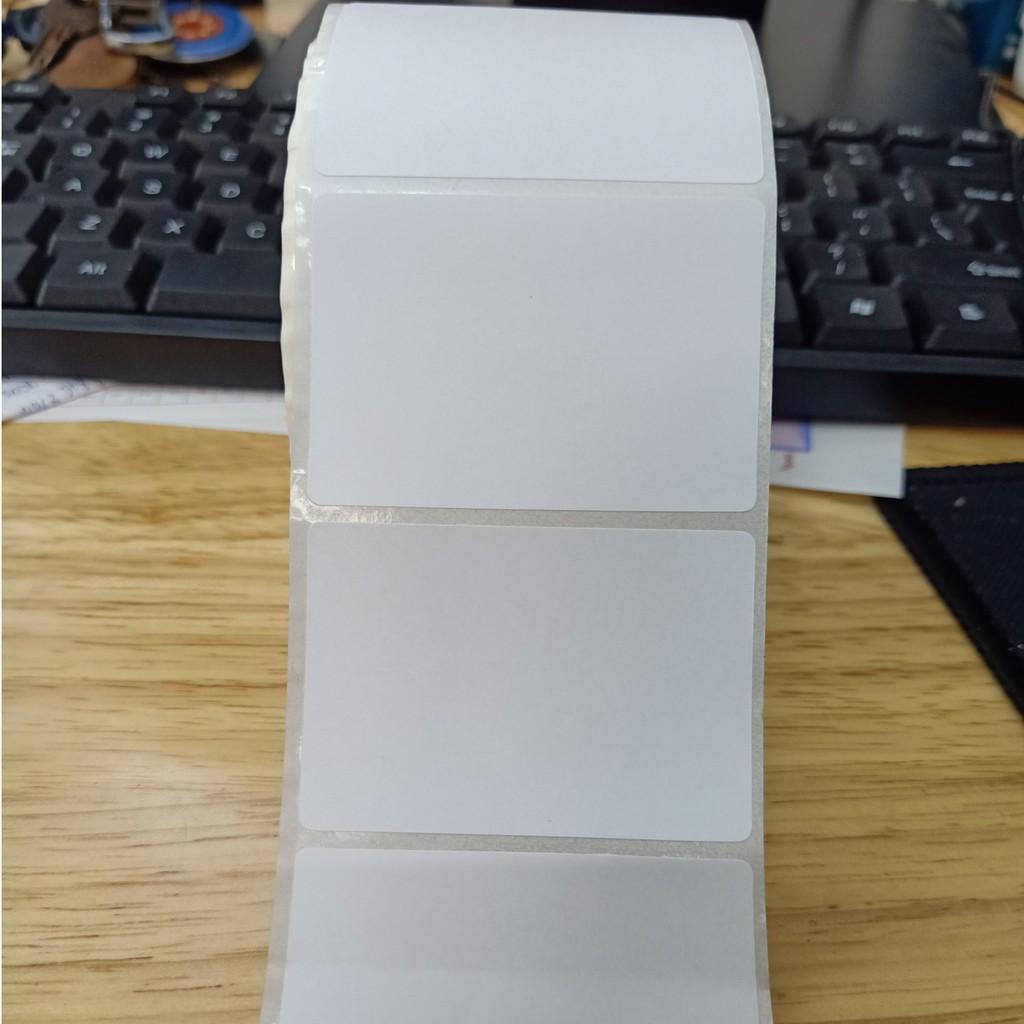 Tem cân, tem trà sữa, tem nhiệt in mã vạch, in nhãn loại 1 tem, khổ 58x40mm (Cuộn 30m - Lõi 0.2cm)