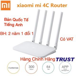[Bản Quốc Tế] Xiaomi N 300Mbps Bộ Phát Wifi R4CM – Mi Router 4C – Quốc Tế Tiếng Anh 4 Anten rời -BH 2 năm 1 đổi 1