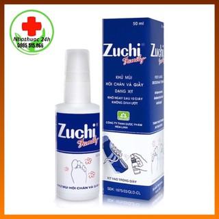 Xịt zuchi family _khử mùi hôi chân và giày 50 ml thumbnail