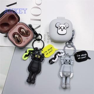 Samsung Galaxy Buds Pro / Buds Live / Buds + / Buds Plus Case Kaws Cute Earphone Cover Soft Silicone Case with Pendant Ring Anti-shock Case Headphone Wireless Headset Earbuds Waterproof Case Shockproof Protective Skin Protective Shell
