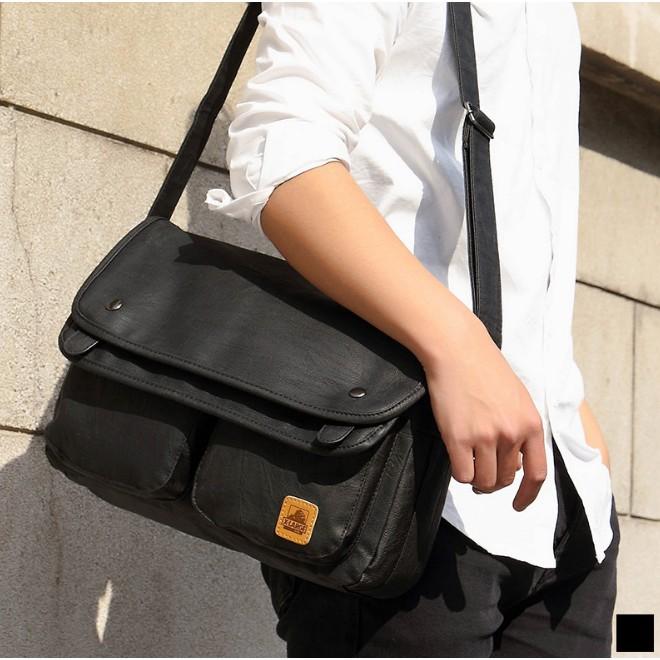Túi đeo chéo X-LARGE (hàng order) Da PU cao cấp không thấm nước siêu bền phong cách Hàn Quốc 2017