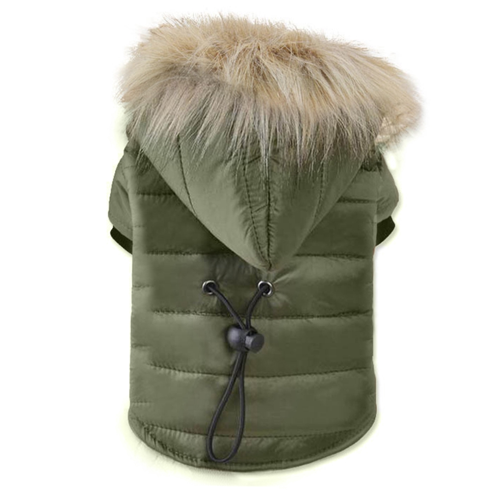 Cotton Padded Small Fur Collar Pet Dog Cute Hooded Winter Warm