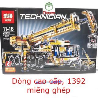 Bộ ghép hình cao cấp Lepin cần cẩu 1392 miếng dòng Technician