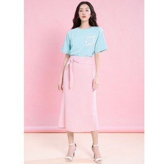 Chân váy hồng đai cạp thiết kế Elise thumbnail