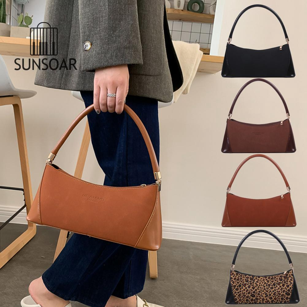 Women Handbag PU Leather Shoulder Shopping Bag Elegant Travel Totes