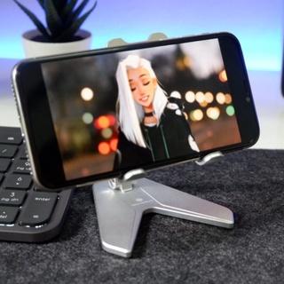 FREESHIP Giá đỡ điện thoại, máy tính bảng Boneruy P10 P10 mini màu bạc, xám, gấp gọn thumbnail