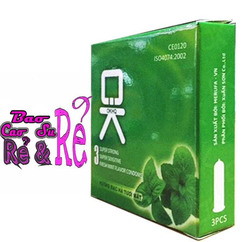 Bao Cao Su BẠC HÀ MÁT LẠNH OK hộp 3 cái - 3611730 , 1072650592 , 322_1072650592 , 11900 , Bao-Cao-Su-BAC-HA-MAT-LANH-OK-hop-3-cai-322_1072650592 , shopee.vn , Bao Cao Su BẠC HÀ MÁT LẠNH OK hộp 3 cái