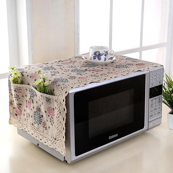 Khăn vải phủ lò vi sóng, lò nướng, tủ lạnh, máy giặt KTT008