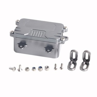 Metal Receiver Box For 1/10 Rc Crawler Car Axial Scx10 Rc4Wd D90 D110