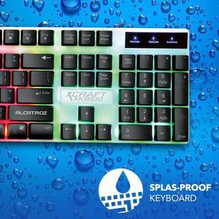 Combo bàn phím + chuột Gaming Sr-1276alcatroz XC-1000 9 đèn nền thumbnail