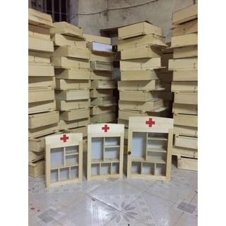 [GIÁ TẬN XƯỞNG] TỦ THUỐC Y TẾ TREO TƯỜNG gỗ cho gia đình, công sở, trường học