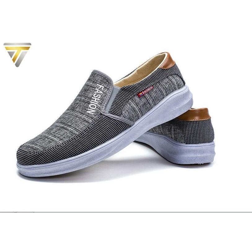 Giày lười vải nam phong cách mới nhất 2019 TRT-GLN-09
