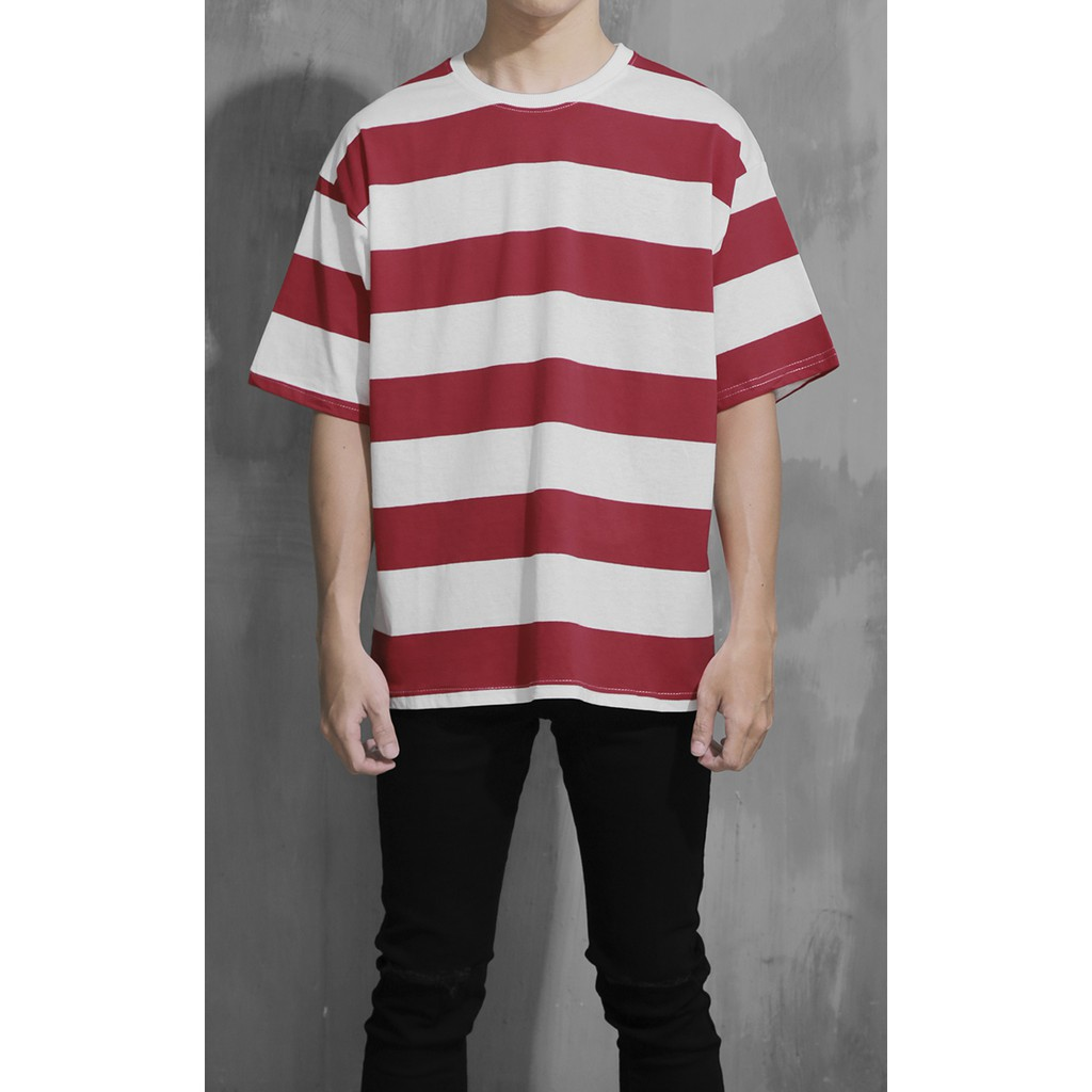 Striped T-Shirt In Red/White
