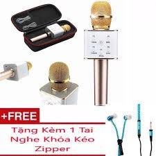 Micro Karaoke tích hợp Loa Bluetooth Q7 Tặng Kèm Tai Nghe Khóa Kéo Zipper (Màu Ngẫu Nhiên) - 22614680 , 2418720448 , 322_2418720448 , 180000 , Micro-Karaoke-tich-hop-Loa-Bluetooth-Q7-Tang-Kem-Tai-Nghe-Khoa-Keo-Zipper-Mau-Ngau-Nhien-322_2418720448 , shopee.vn , Micro Karaoke tích hợp Loa Bluetooth Q7 Tặng Kèm Tai Nghe Khóa Kéo Zipper (Màu Ngẫ