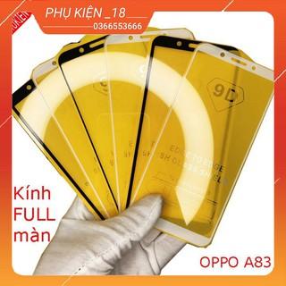 Cường lực FULL màn OPPO F3,F5,A37,A57,A59,A7,A71,A83 , Tặng kèm giấy lau kính khô và ướt thumbnail