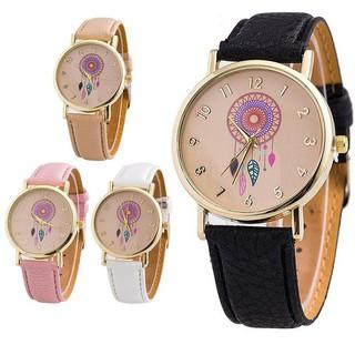Đồng hồ đeo tay nữ có mặt họa tiết vòng bắt giấc mơ thời trang
