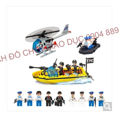 Xếp hình kiểu LEGO - Mô hình tàu chiến đấu 843 chi tiết