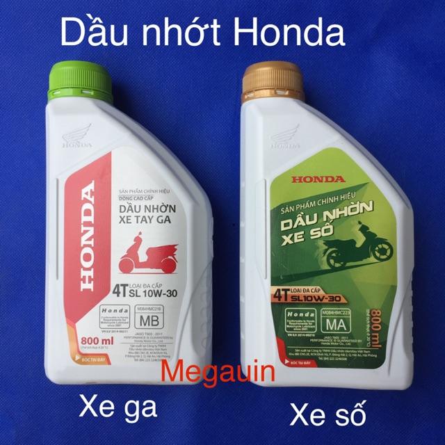Dầu nhớt Honda xe số, xe ga 0,8L (dòng cao cấp SL 10W-30)