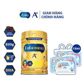 [Tặng 2 gói khăn ướt Bobby 100M] Sữa Bầu Enfamama A+ 830g Hương Chocolate thumbnail