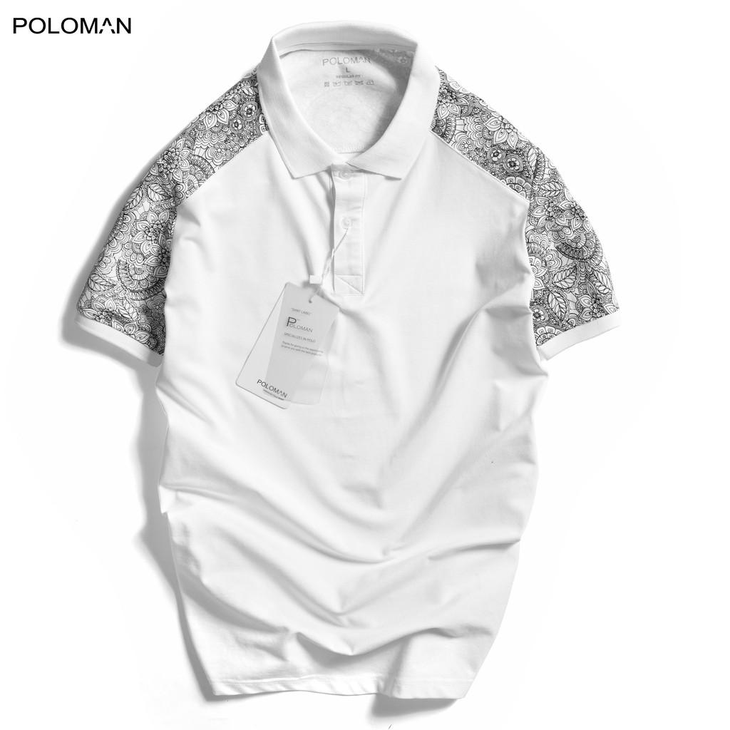 Áo thun Polo nam cổ bẻ POVE vải cá sấu Cotton xuất xịn, chuẩn form,sang trọng-lịch lãm P55 - POLOMAN