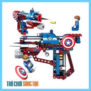 [SALE TẾT] Bộ lego xếp hình súng bắn siêu anh hùng Đại uý Mỹ – Captain America 229pcs