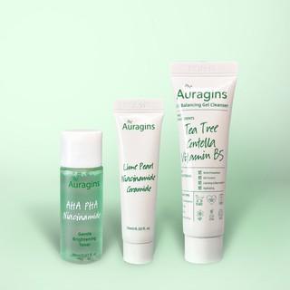 Bộ 3 Bước Dưỡng Da The Auragins Dành Cho Da Dầu Mụn 3 Steps Skin Care for Oily Skin - Gel rửa mặt, Toner, Gel dưỡng ẩm thumbnail