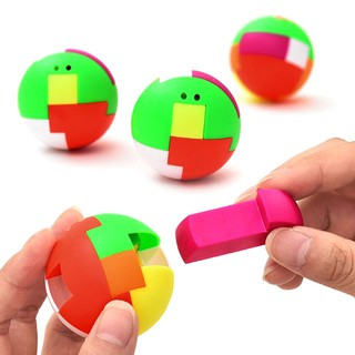 ❀❀ 2pcs baby toys intelligence colorful puzzle assembly ball kids game