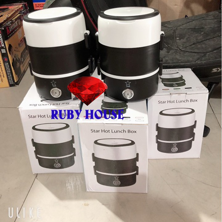 [BH 1 ĐỔI 1]Hộp cơm cắm điện 3 tầng CHUẨN LOẠI 1, Hộp cơm văn phòng 3 tầng siêu tiện lợi - Ruby House