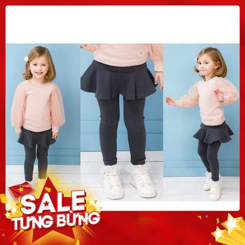 [HÀNG XUẤT HÀN] Quần váy cotton 1 tầng Pe-tite Mieu xuất Hàn cho bé gái - SP352 (3 màu)