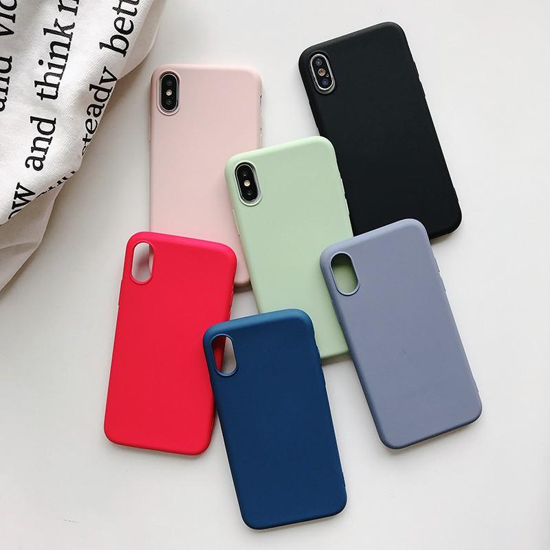 Ốp điện thoại màu trơn bằng silicone cho OPPO a3s a5s a39 a57 a59 a73 a83 a3 a5 a7 a9