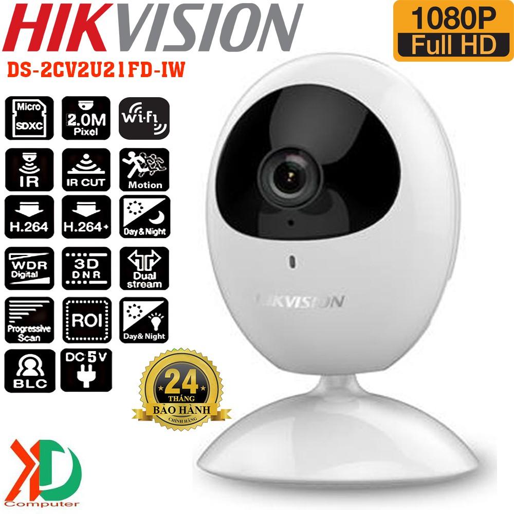 [ NEW 2018] Camera ip không dây wifi 2.0mp HIKVISION DS-2CV2U21FD-IW Full HD 1080P / 10m IR Chính Hãng