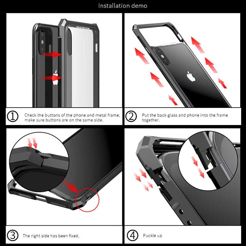 Tempered Glass Case For Samsung Galaxy S7 Edge S8 S9 Plus Note 8 9 Buckle Phone Cases Back Cover
